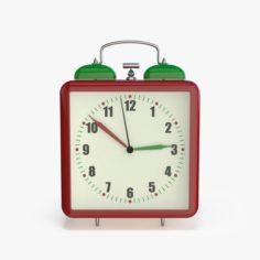 Square alarm clock 3D Model
