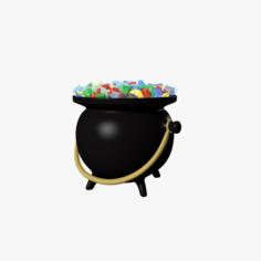 Pot of gems 3D Model