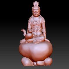 GUANYIN BODHISATTVA KWAN-YIN SCULPTURE FOR CNC OR 3D PRINTER29 3D Print Model