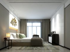 Stylish master bedroom design 38 3D Model