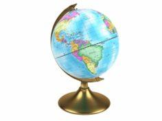 World Globe Day Night NATUREETDE COUVERTS 3D Model