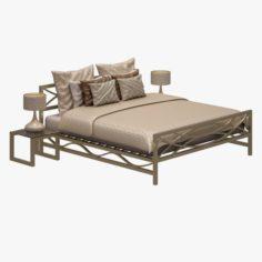 Bed Set 05 3D Model