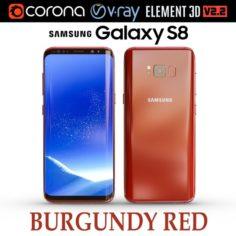 Samsung Galaxy S8 BURGUNDY RED 3D Model