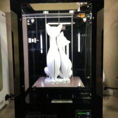 Twin Cats 3D Print Model