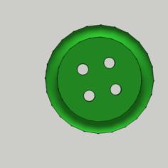Shirt Button – 4 Holes / Shirt Button – 4 Holes 3D Print Model