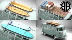 Volkswagen T1 Samba 1963 Accessories 3D Model