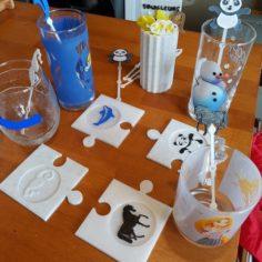 PUZZLE BELOW ANIMAL GLASSES 3D Print Model