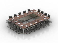 Conference table office 3D Collection