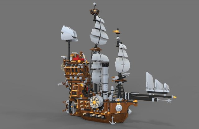Lego ship air 3D Model