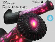 Horse penis Destructor 3D Model