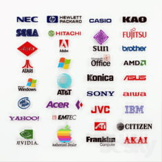 Collection of Electronics brands                                      Free 3D Model
