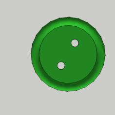 Shirt Button – 2 Holes / Shirt Button – 2 Holes 3D Print Model