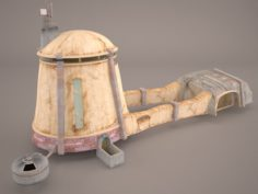 Tatooine House Building Star Wras 3D Model