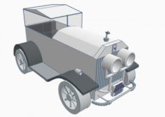 Rolls-royce with movable wheels 2 3D Model