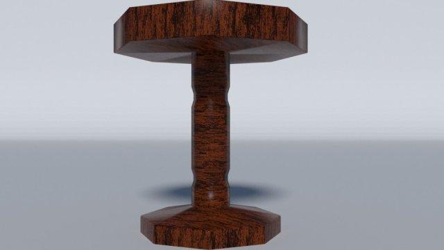 Simple Coffee Table 3D Model