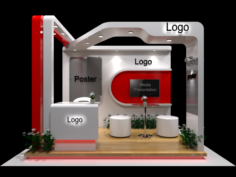Exhibition stand with fabrication 3D Model