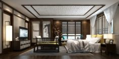 Stylish master bedroom design 70 3D Model