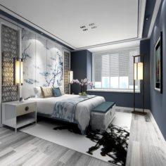 Stylish master bedroom design 03 3D Model