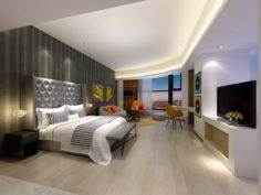Stylish master bedroom design 30 3D Model