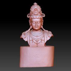 guanyin bodhisattva kwan-yin sculpture for cnc or 3d printer 47 3D Print Model