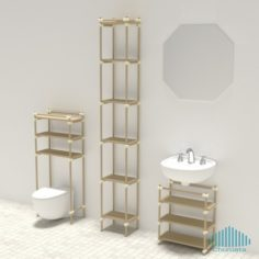 Just Another Modular Furniture Shelving System 3D Print Model