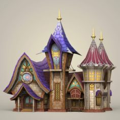 Game Ready Fantasy King House 3D Model