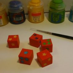 Special starry dice 3D Print Model