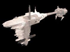 Scifi Frigate Predator Star Wars 3D Model
