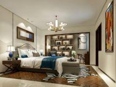 Stylish master bedroom design 10 3D Model