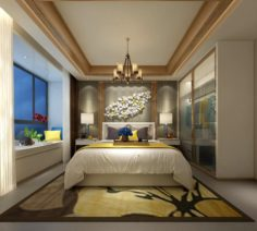 Stylish master bedroom design 17 3D Model
