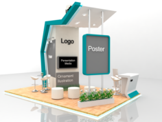 Futuristic Exhibition Stand with fabrication 3D Model