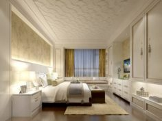 Stylish master bedroom design 61 3D Model