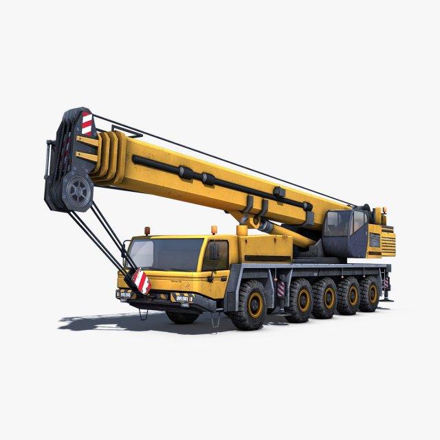 Mobile Crane 3D Model - 3DHunt co