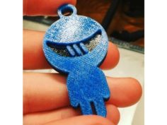 Sainsmart Logo Keychain 3D Print Model