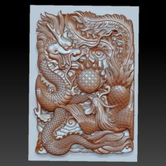 dragon and phoenix 3D Print Model
