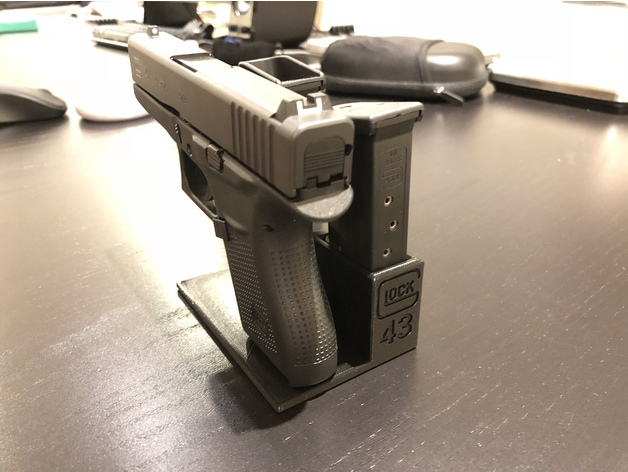 Glock 43 Pistol Stand 3D Print Model - 3DHunt co