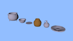 Set of dishes 3D Model