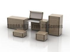 ZEGEN commodes bedroom 3D Collection