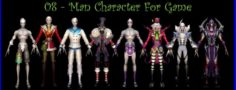8-Man Character For Game B 3D Model