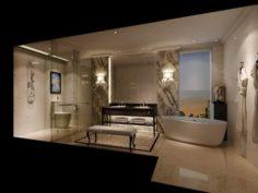 Bathroom design complete model 116 3D Model