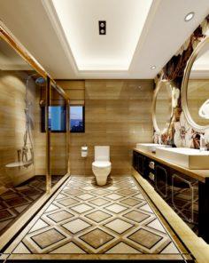 Family style sanitary bath toilet 1817 3D Model