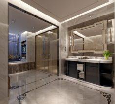 Bathroom design complete model 126 3D Model