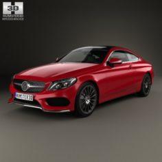 Mercedes-Benz C-lass AMG Line Coupe 2015 3D Model