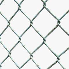 Mesh Link Fence Element 3D Model