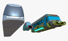 Hover vehicles collection 3D Model