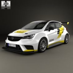 Opel Astra TCR 2016 3D Model