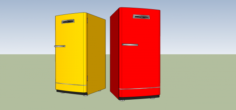 Old Refrigerator StyleGE Free 3D Model