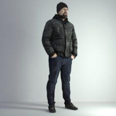 3D Scan Man Winter 027 3D Model