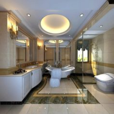 Bathroom design complete model 157 3D Model