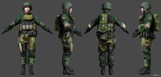 Battlefield 4 Singleplayer Russian Infantry 3D Model